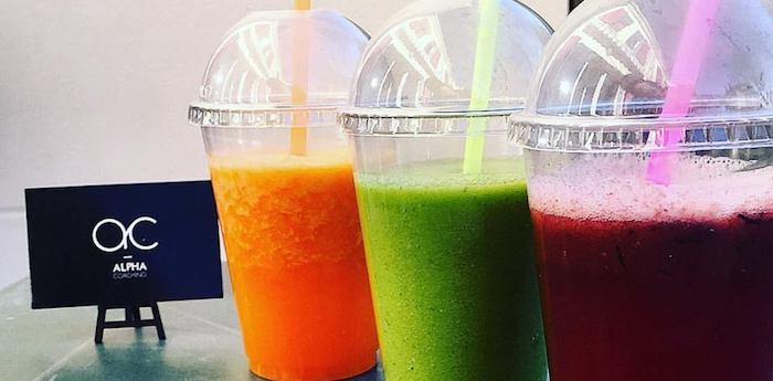 Dégustations des smoothies d'Alpha Cooking